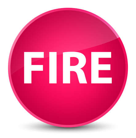 Fire isolated on elegant pink round button abstract illustration