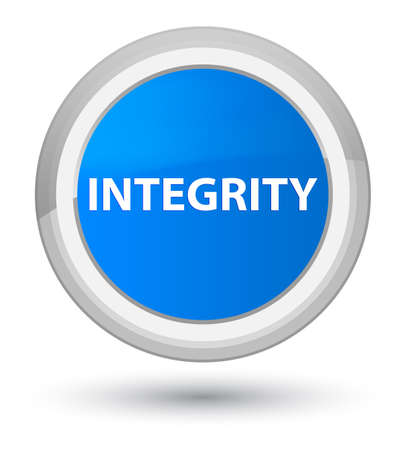 Integrity isolated on prime cyan blue round button abstract illustration Stock Photo