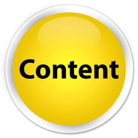 Content isolated on premium yellow round button abstract illustration Stock Photo