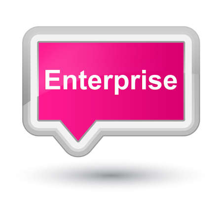Enterprise isolated on prime pink banner button abstract illustration