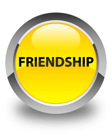 Friendship isolated on glossy yellow round button abstract illustration