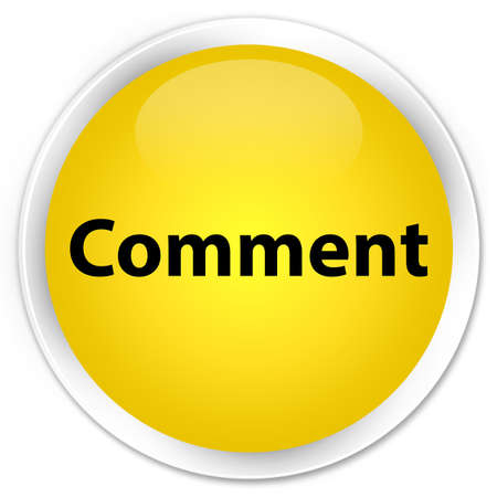 Comment isolated on premium yellow round button abstract illustration