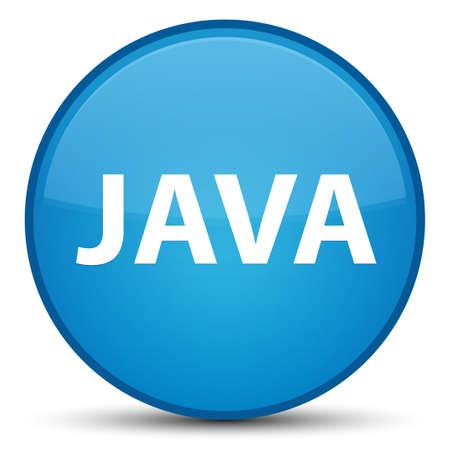 特別なシアンブルーラウンドボタン抽象イラストに分離された Java