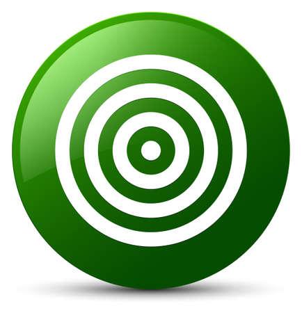 緑の丸いボタンの抽象的なイラストに分離ターゲットアイコン