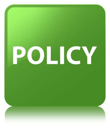Policy isolated on soft green square button reflected abstract illustration