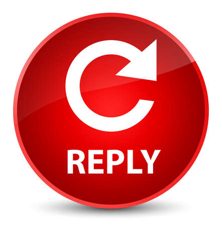 Reply (rotate arrow icon) isolated on elegant red round button abstract illustration