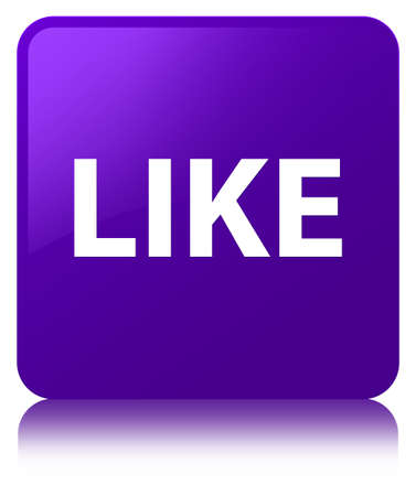Like isolated on purple square button reflected abstract illustration