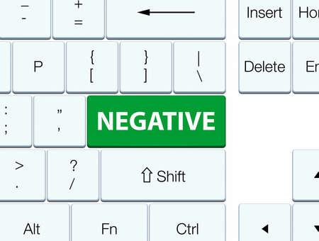 Negativo aislado en ilustración de botón verde teclado abstracto Foto de archivo - 88638899