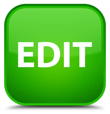 Edit isolated on special green square button abstract illustration Stock Photo