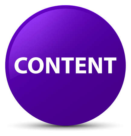 Content isolated on purple round button abstract illustration