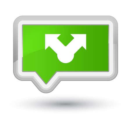 プライム ソフト緑バナー ボタン抽象的なイラストに分離された共有アイコン