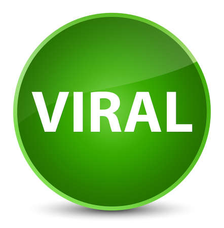 Viral isolated on elegant green round button abstract illustration