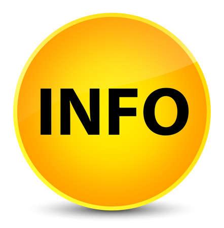 Informatie op elegante gele ronde knoop abstracte illustratie die wordt geïsoleerd