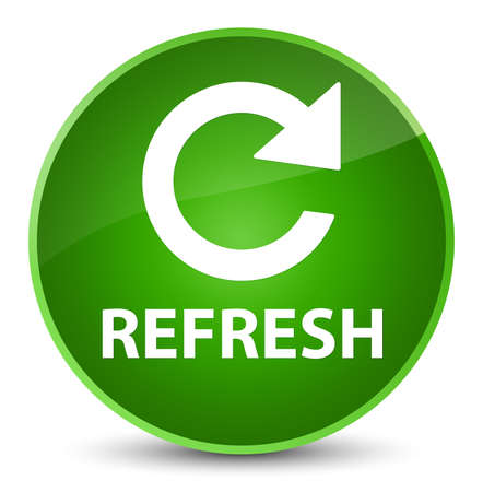 Refresh (rotate arrow icon) isolated on elegant green round button abstract illustration