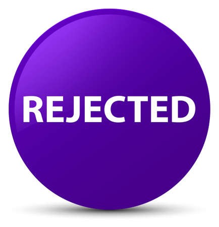 Rejected isolated on purple round button abstract illustration Stock Photo