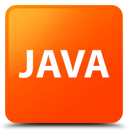 Java isolated on orange square button abstract illustration