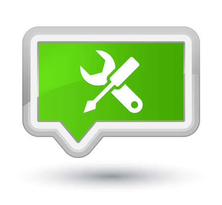 Settings icon isolated on prime soft green banner button abstract illustration Stock Photo