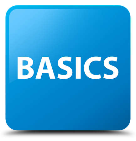 Basics isolated on cyan blue square button abstract illustration