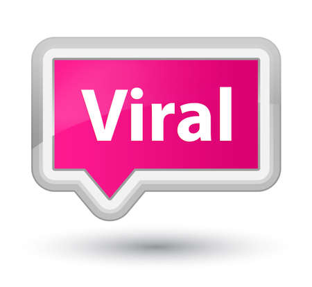 바이러스 성 분홍색 배너 버튼 추상적 인 그림에 절연