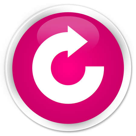 Reply arrow icon isolated on premium pink round button abstract illustration Stock Photo