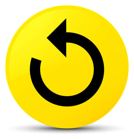 Refresh arrow icon isolated on yellow round button abstract illustration