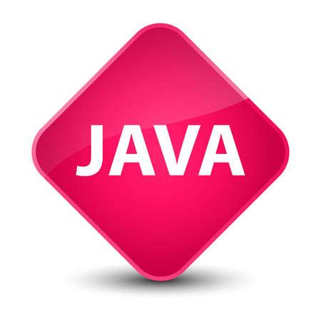 エレガントなピンク ダイヤモンド ボタン抽象的なイラストに分離された Java 写真素材