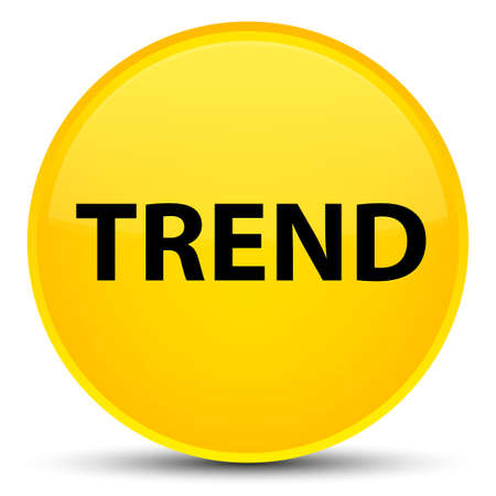 Trend isolated on special yellow round button abstract illustration Stock Photo