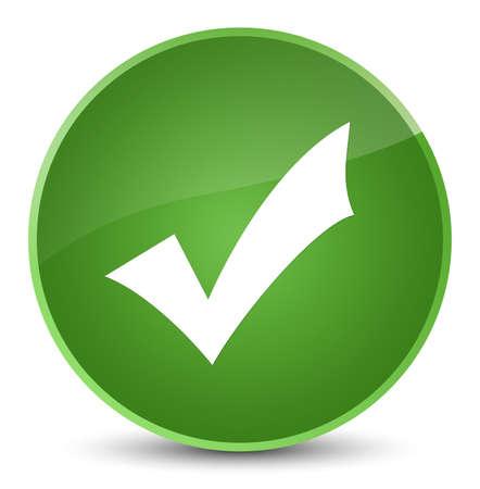 validation: Validation icon isolated on elegant soft green round button abstract illustration