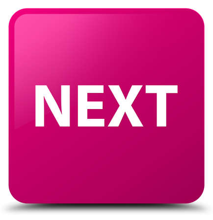 Next isolated on pink square button abstract illustration Stock Photo