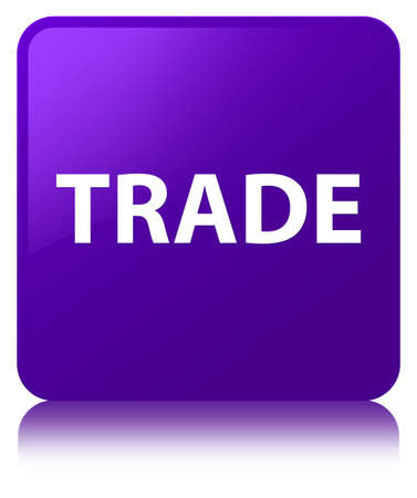Trade isolated on purple square button reflected abstract illustration Stock Photo