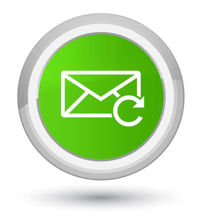 Refresh email icon isolated on prime soft green round button abstract illustration Stock Photo