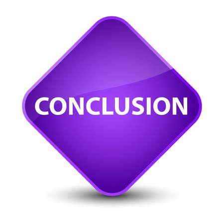 Schlussfolgerung Lokalisiert Auf Knopfzusammenfassungsillustration