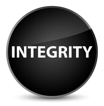 Integrity isolated on elegant black round button abstract illustration Stock Photo