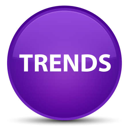 Trends isolated on special purple round button abstract illustration 스톡 콘텐츠