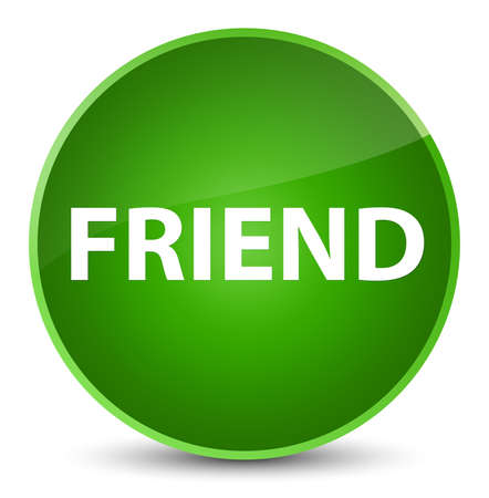 Friend isolated on elegant green round button abstract illustration Stock Photo