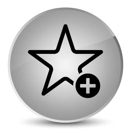 Add to favorite icon isolated on elegant white round button abstract illustration