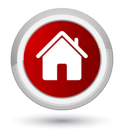 Home icon isolated on prime red round button abstract illustration