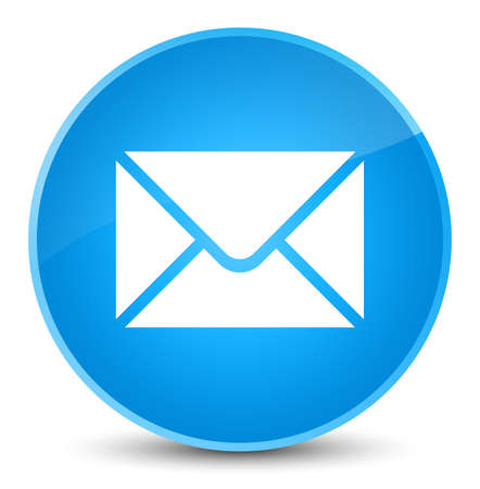 Email icon isolated on elegant cyan blue round button abstract illustration