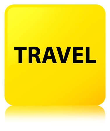 Travel isolated on yellow square button reflected abstract illustration Stock Photo