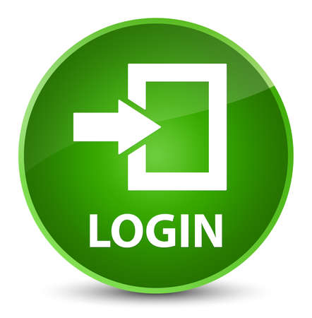 Login isolated on elegant green round button abstract illustration
