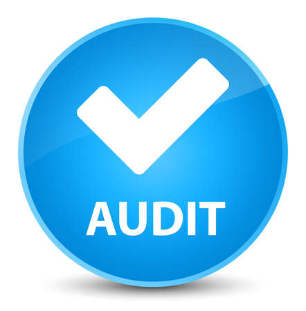 Audit (validate icon) isolated on elegant cyan blue round button abstract illustration