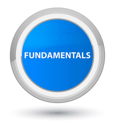Fundamentals isolated on prime cyan blue round button abstract illustration