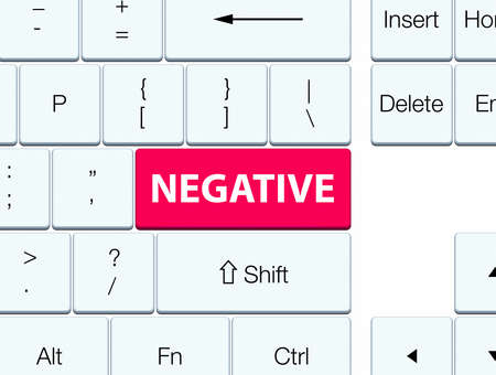 Negative isolated on pink keyboard button abstract illustration