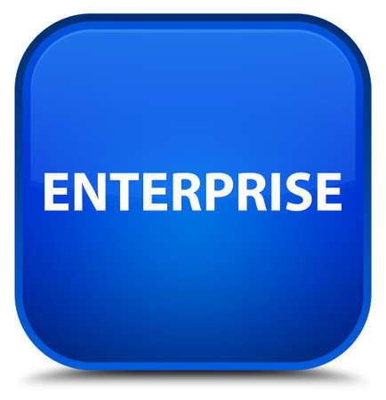 Enterprise isolated on special blue square button abstract illustration
