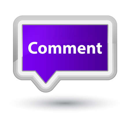 Comment isolated on prime purple banner button abstract illustration