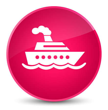 Cruise ship icon isolated on elegant pink round button abstract illustration