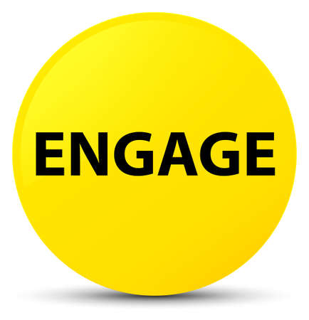 Engage isolated on yellow round button abstract illustration
