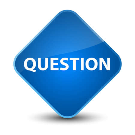 Question isolated on elegant blue diamond button abstract illustration Stock Photo
