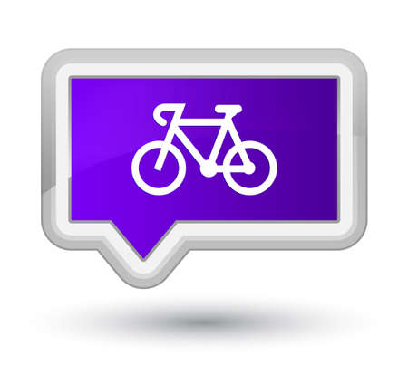 Bicycle icon isolated on prime purple banner button abstract illustration Stock Photo