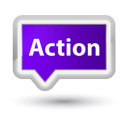 Action isolated on prime purple banner button abstract illustration